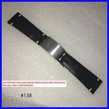 20MM HANDMADE ALLIGATOR LEATHER STRAP FIT FOR ROLEX DATEJUST 62523 BUCKLE #138
