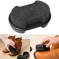 Black Quick Shine Shoes Shine Sponge Brush Polish Dust Cleaner Cleaning Tool US