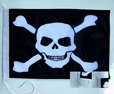 Piraten 2 Bootsfahne Bootsflagge Fahne Schiffsfahne Flagge Fahne 45x30cm NEU