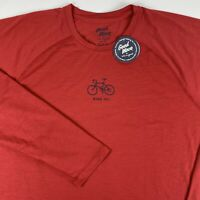 Life Is Good Long Sleeve Semi-Fitted T-Shirt Men's 2XL XXL Bicycle Ride On