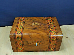 Tunbridge Ware Sewing Box Work Box 19th Century Victorian