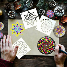 36/56Pcs Rock Painting Art Templates Stencils Mandala Dot Painting Art Decor DIY