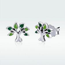 Christmas 925 Sterling Silver Enamel art Earrings Charm Fit Beauty Women Jewelry