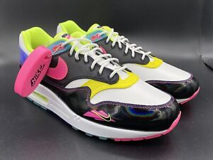 2020 Nike Air Max 1 Iridescent Hyper Pink Size 11.5 CZ7920-001 BRIGHT COLORS!!!