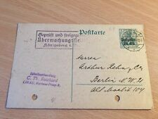Germany Reich card from Latvia Liepaya to Berlin 14.7.1916 censored