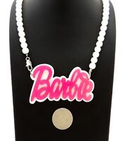 NEW PINK ACRYLIC BARBIE NECKLACE