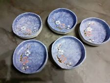 Gorgeous Set of 5 Ceramic Glazed Dishes/Bowls, Hand Painted.Home Decor