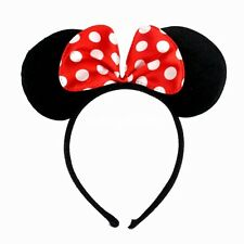 Minnie Mouse Ears Bow Cosplay Headband Night Women Girl Mickey Party Fancy Dress