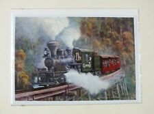 """Railway Greeting Card 5"""" x 7"""" featuring Puffing Billy Climax Steam Loco"""