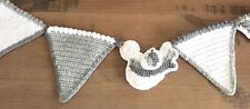 Crochet wedding garland bunting room decoration wall hanging home decor Easter