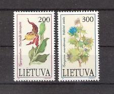 Lithuania 1992 Beautiful Flowers Set MNH (SC# 425-426)