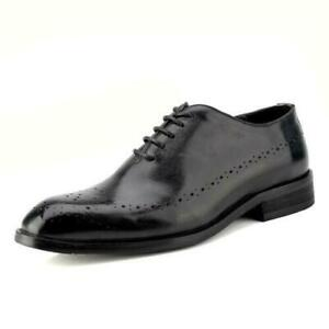 Mens Pointy Toe Wedding Carved Leather Pumps Lace Up Formal Dress Shoes Brogue