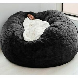 Giant Comfortable Fur Bean Bag For Rest Relaxation Sofa Beds Living Room Bedroom
