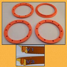 Beadlocks Lipped OUTER v3 Orange Silverback RC fit Losi5 Vekta5 HPI 5B 5T PRC RV