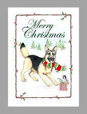 German Shepherd Dog Christmas Cards, Box of 16 Cards & 16 Envelopes