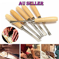 AUS 6pcs Wood Carving Chisel Set Wood Cutting Hand Tools Gouges Chisels with bag