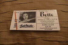 TICKET BETTE MIDLER 1978 USA