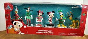 Disney Christmas Holiday Mickey Mouse & Friends  6 Figurine Playset  2020 NIB