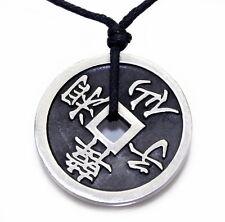 N52 Halskette Anhänger FENG SHUI GLÜCKSMÜNZE Damen Herren Necklace Pendant Coin