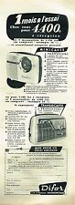 H- Publicité Advertising 1959 Transistor Minicapte Transiscapte Difor