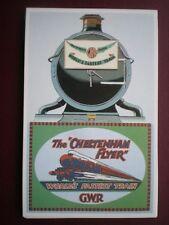 POSTCARD GWR NAMED TRAIN 'THE CHELTENHAM FLYER' WORLD FASTEST TRAIN