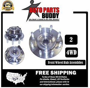 2 New Front Wheel Hub Assembly 4WD GM Truck & Hummer Free Shipping 2 Yr Warranty