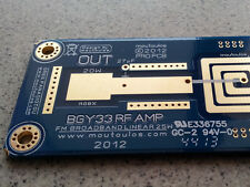 BGY33 FM RF AMP Linear Broadband PCB NoTUNE 87.5-108  20W Broadcast moutoulos ™