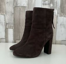 Faith Brown Suede High Heel Boots Size 4