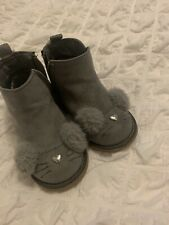 Grey Toddler Girls Boots Size 4