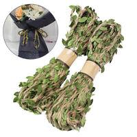 10m Leaf Natural Hessian Jute Twine Rope Burlap Ribbon DIY Craft Party Decor Hot