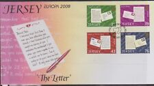 GB - JERSEY 2008 The Letter/Europa '08 SG 1355-1362 FDC