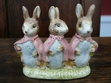 Beswick Beatrix Potter - Flopsy Mopsy and Cottontail Rabbit Figurine BP3b