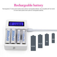 Smart Battery Charger LCD Rechargeable for AA/AAA/ NiCd Lithium-ion Battery