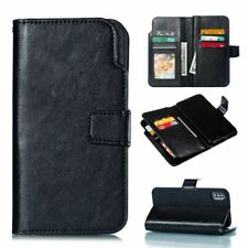 Cell Phone Case Flip Leather Book Cover Card Document Holder Luxury Accessories