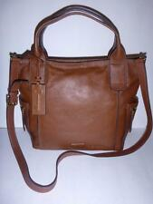 BROWN Leather Fossil EMERSON SATCHEL CONVERTIBLE Purse Bag $248 ZB6458