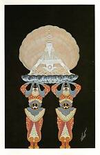 Authentic VINTAGE Erte Art Deco stampa MADREPERLA Balletto FASHION BOOK Piastra