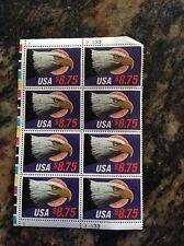 US 1988 Scott 2394, Moon Eagle $8.75 Express Plate Block, USA NH