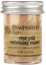 Embossing Powder Frantage ROSE GOLD Embossing .88 oz Jar Stampendous NEW