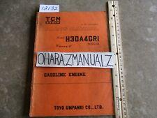 TCM Nissan Forklift H30A4GR1 Parts Manual