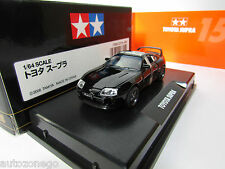 TAMIYA 1/64 TOYOTA SUPRA BLACK COLLECTOR'S CLUB DOORS OPEN,WITH TRACK NUMBER