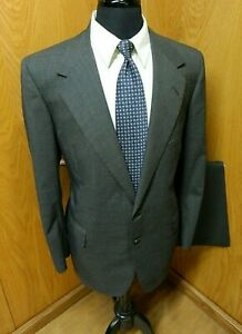 Oxxford Clothes Suit Mens Suit  42r 36 X 31 Gray Pinstripe 100% Wool  T#94