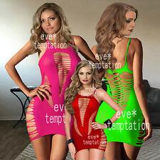 Sexy Conjunto De Body Babydoll Lencería Ropa Interior De Red Bodystockings Crochet Regalo