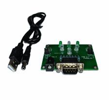 New 9 Pin Amiga Atari Commodore Amstrad LED Joystick Joy Tester + USB Cable #689