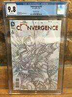 Convergence #5 1:100 Ivan Reis Cyborg Sketch Variant CGC 9.8 12607753024