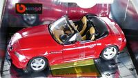 BURAGO BMW Z3 M 3.2 ROADSTER 1:18 IMOLA RED INDIVIDUAL BROWN INTERIOR TOY CAR