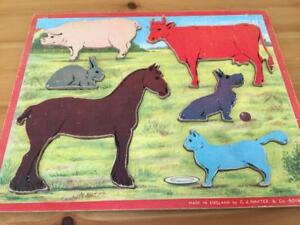 VINTAGE GJ Hayter Lift Out Wooden Puzzle