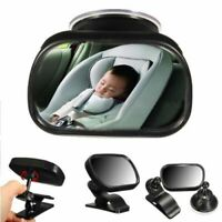 Car Baby Back Seat Rear View Mirror for Infant Child Toddler Safety Suction&Clip