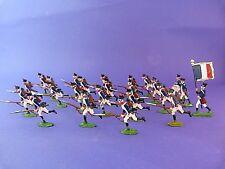 24 plats d'étain - Zinnfiguren - Infanterie de ligne au combat premier empire