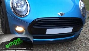 Mini One/Cooper F56, F55, F57 Front Black Gloss Grille Covers, Middle 3 Strips