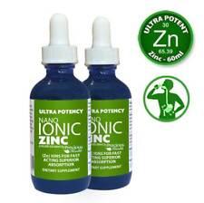 Ultra Potente De Alta Resistencia Nano iónico líquido Zinc 60 Ml X 2 Pack-Bueno para